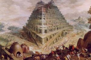 """'Tower of Babel"" by Marten van Valckenborch, circa 1600"