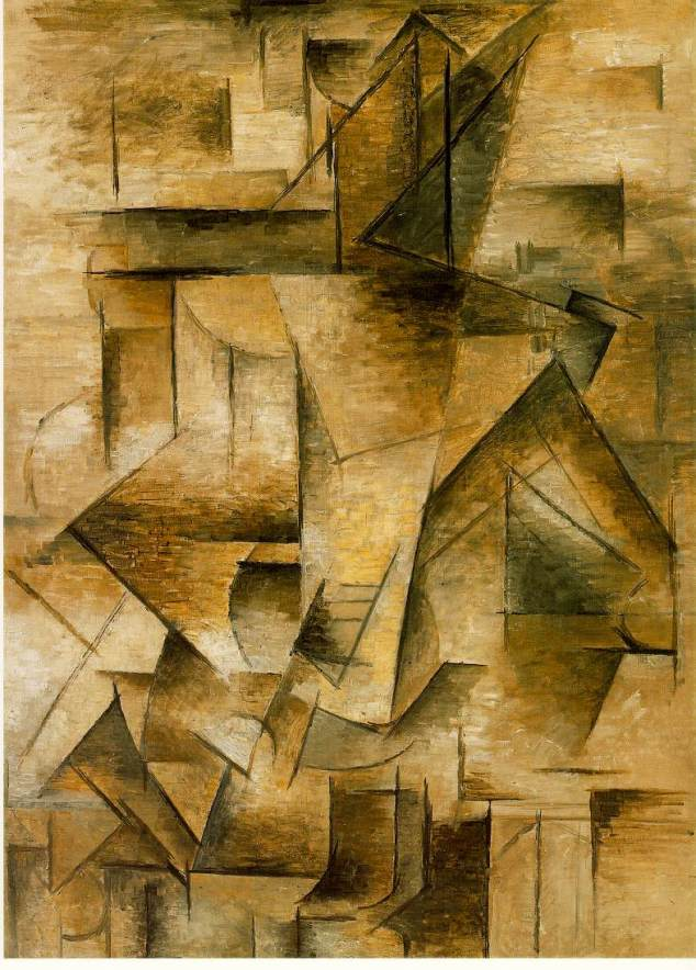 """Cubism in art made the brokenness visible. (Picasso, """"The Guitar Player"""""""