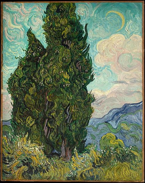 Vincent Van Gogh, Cypresses, 1889 The Metropolitan Museum of Art