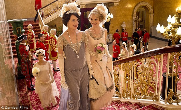 Lady Rose MacClare's debutante moment in Downton Abbey.