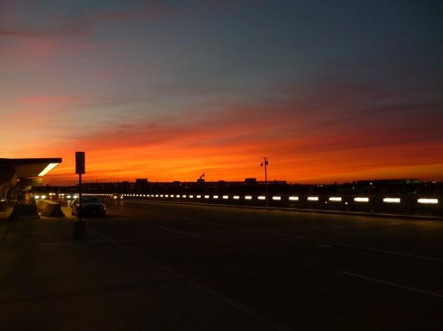 IAD: sunset